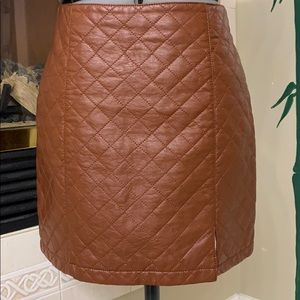 NEW Forever 21 Faux Leather Quilted Mini Skirt